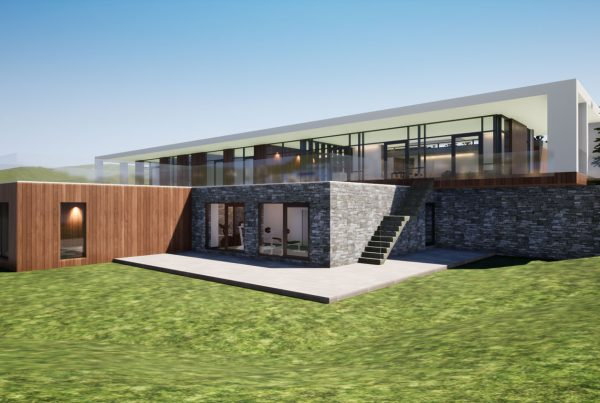 contemporary house over looking slaney river architects and engineers Wexford